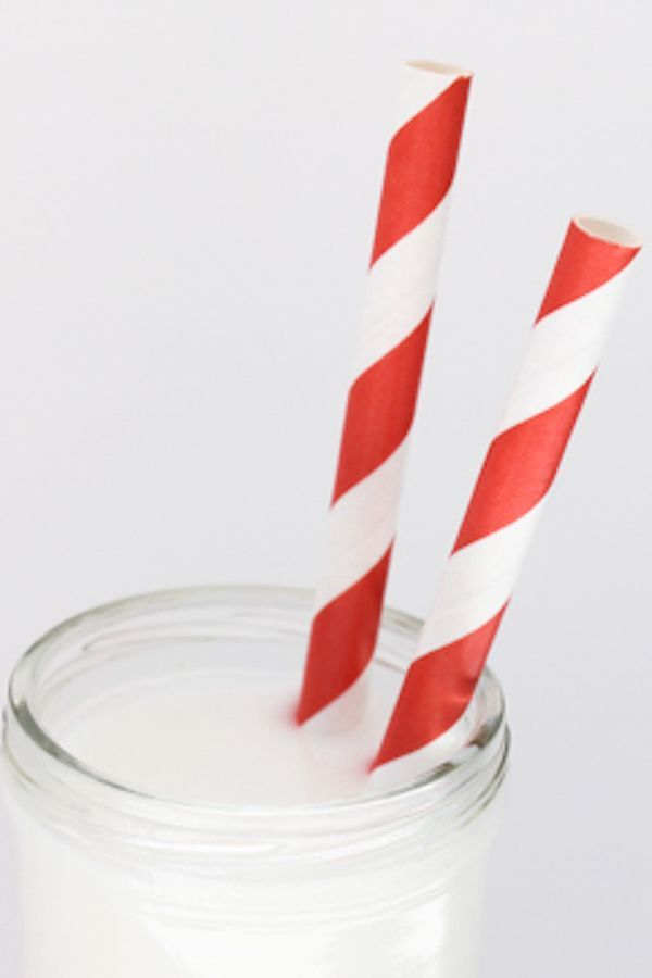 Red Striped Paper Straws - Red Paper Straws
