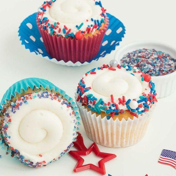 4th of July Cupcakes - Patriotic Cupcakes