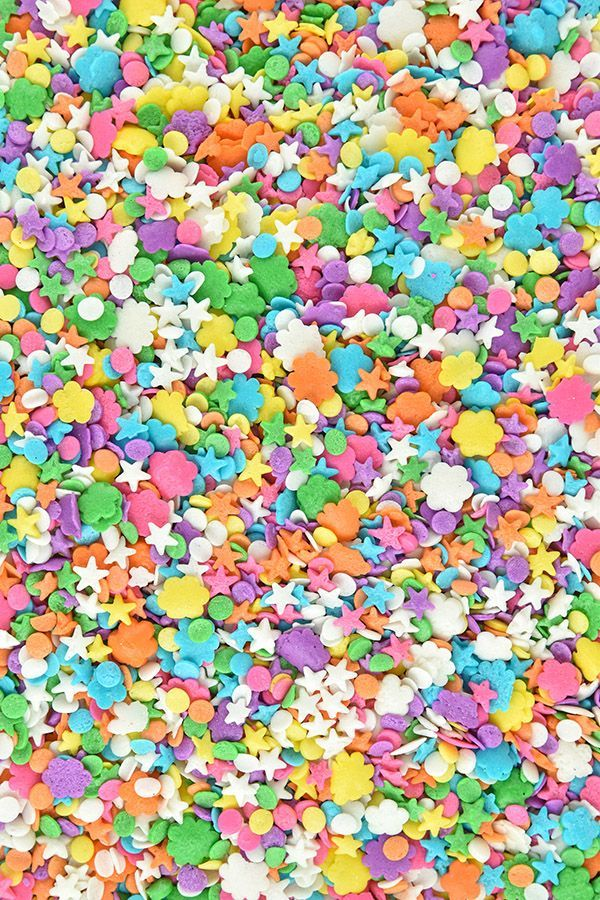 Pastel Confetti Sprinkles Mix - Summer Party Quin Sprinkles - Pastel Sugar Shapes