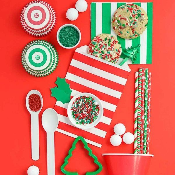 Christmas Party Supplies - Sleigh Ride Sprinkles - Traditional Christmas Party Supplies