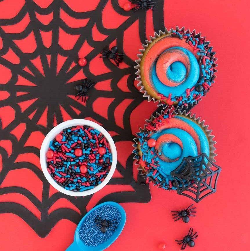 Spiderman Party Sprinkles- Sprider Web Sprinkle Mix