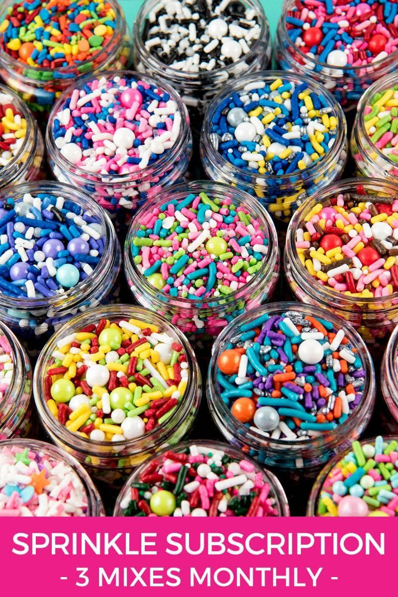 Monthly Sprinkle Subscription Box   Edible Sprinkles Medley Delivered To Your Door