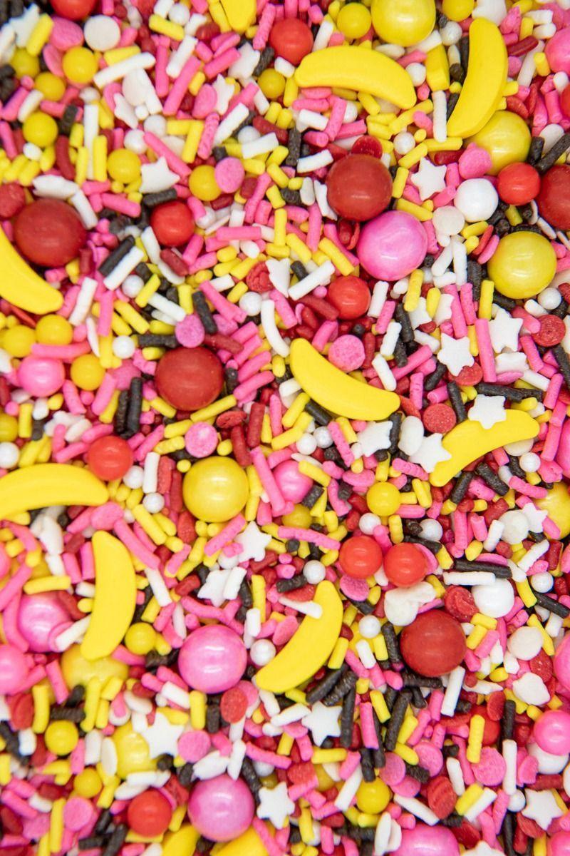 Banana Split Sprinkles Mix | Summer Ice Cream Party Sprinkle Medley, Edible Blend
