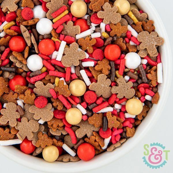 Reindeer Food Sprinkles Mix - Gingerbread Man Christmas Sprinkles
