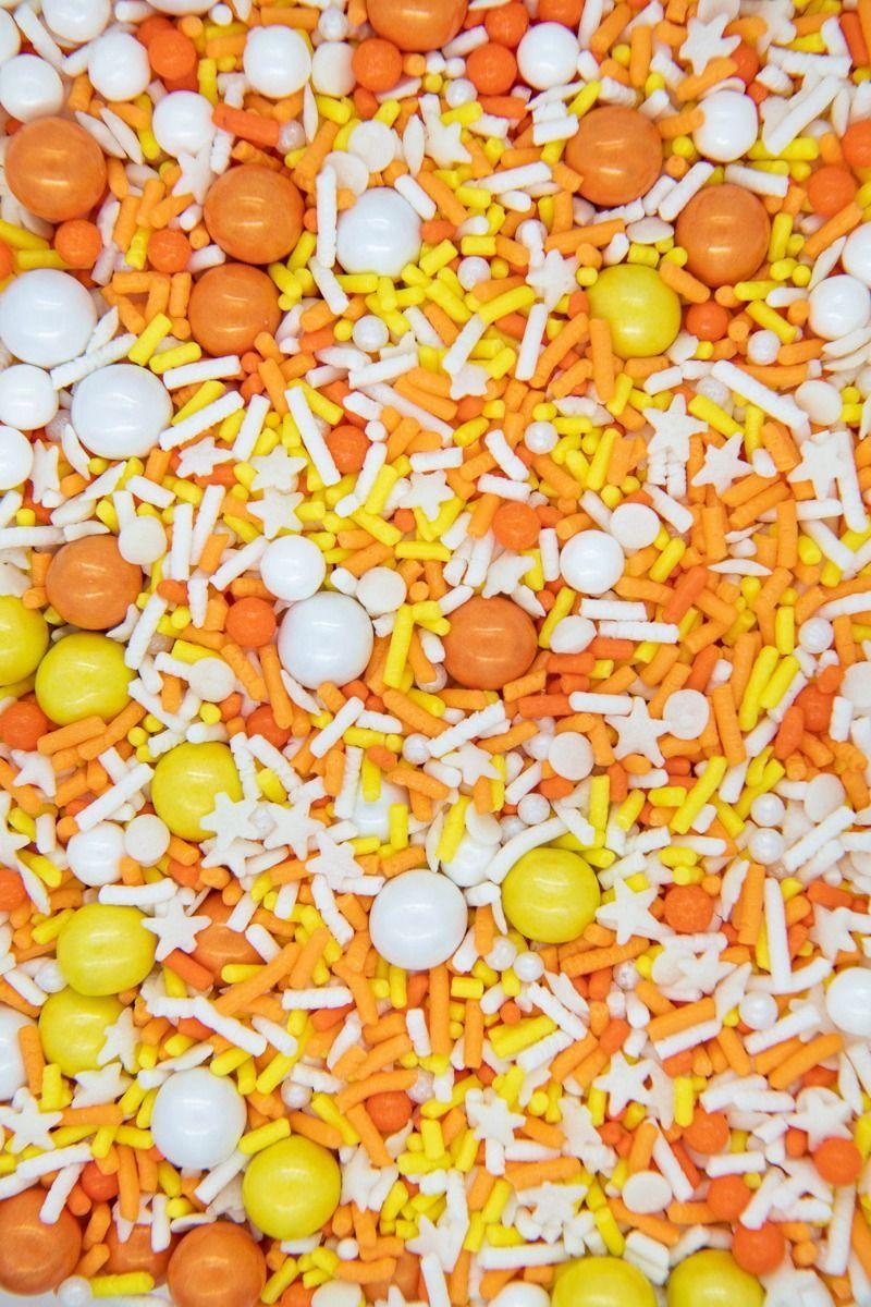 Candy Corn Sprinkles Mix | Corn Field Sprinkle Medley, Edible Blend