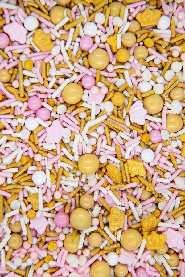 Princess Sprinkles Mix   Crown Jewels Sprinkle Medley, Edible Blend