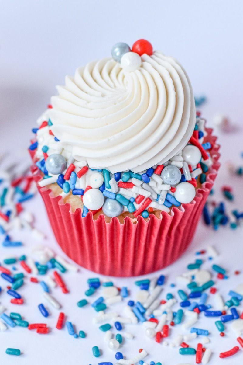 Little Man Sprinkles Mix - Modern Patriotic Sprinkle Medley, Edible Blend