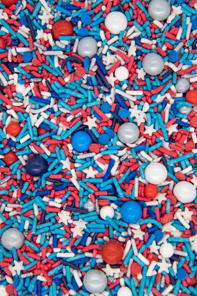 Modern Patriotic Sprinkles Mix | Little Man Sprinkle Medley, Edible Blend