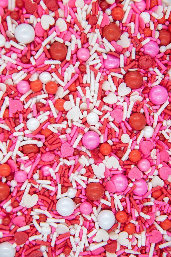 Valentine Sprinkles Mix | Love Boat Sprinkle Medley, Edible Blend