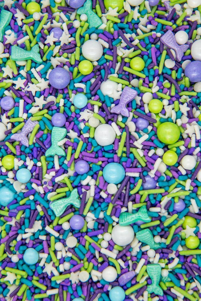 Mermaid Sprinkles Mix   Peacock Sprinkle Medley, Edible Blend