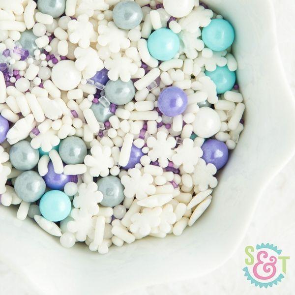 Snow Queen Sprinkles Mix - Winter Sprinkles - Frozen Party Sprinkles