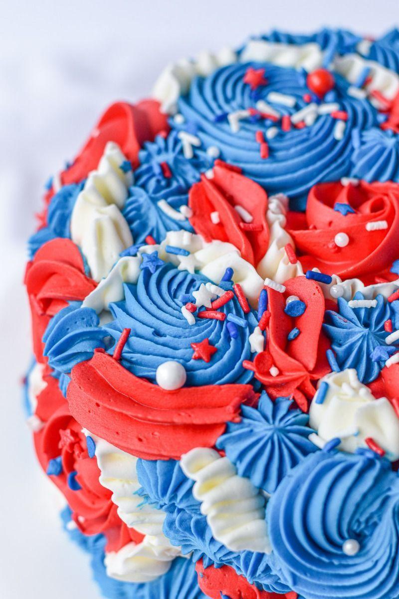 Patriotic Sprinkles Mix | 4th of July Party Sprinkle Medley, Red, White, & Blue Sprinkles