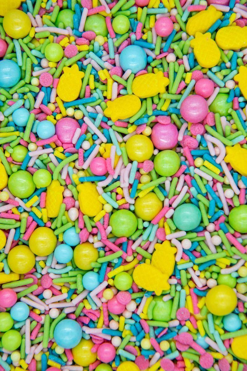 Tropical Sprinkles Mix | Hawaiian Luau Sprinkle Medley, Edible Blend