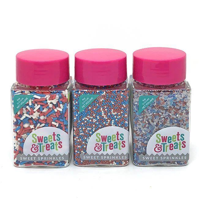 Patriotic Sprinkles Set - Red, White, & Blue Party Sprinkle Pack