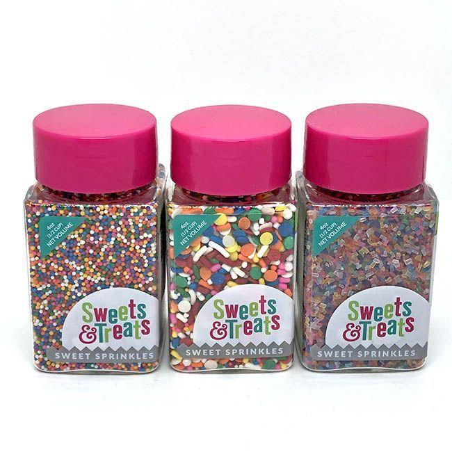 Rainbow Sprinkles Set - Birthday Sprinkles Pack - Birthday Party Sprinkle Bundle