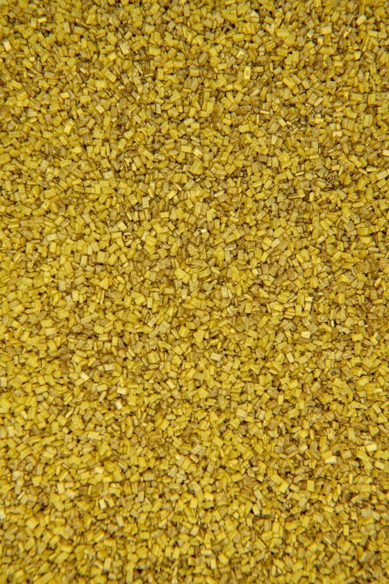 Gold Sugar Crystals Sprinkles   Gold Chunky, Sparkling Sugars