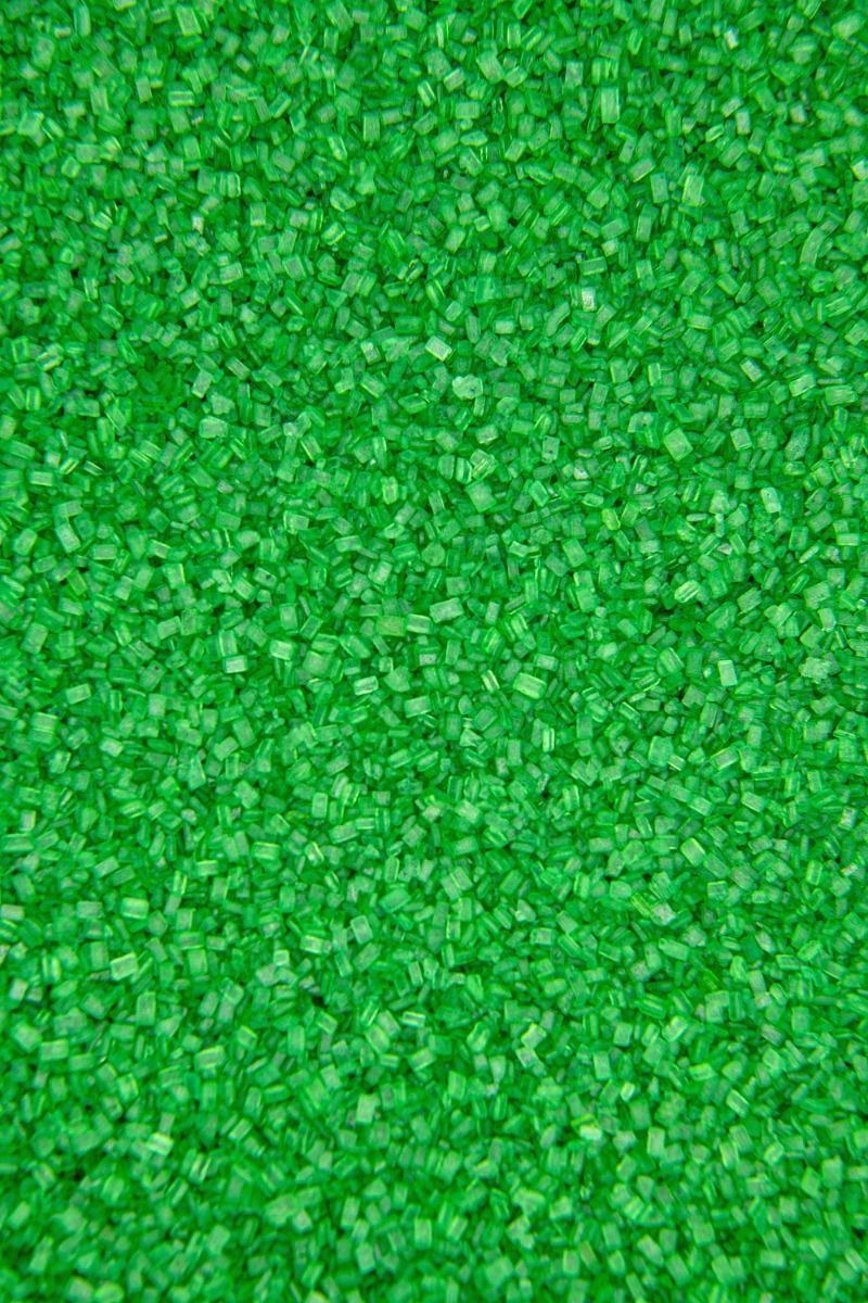 Green Sugar Crystals Sprinkles   Green Chunky, Sparkling Sugars