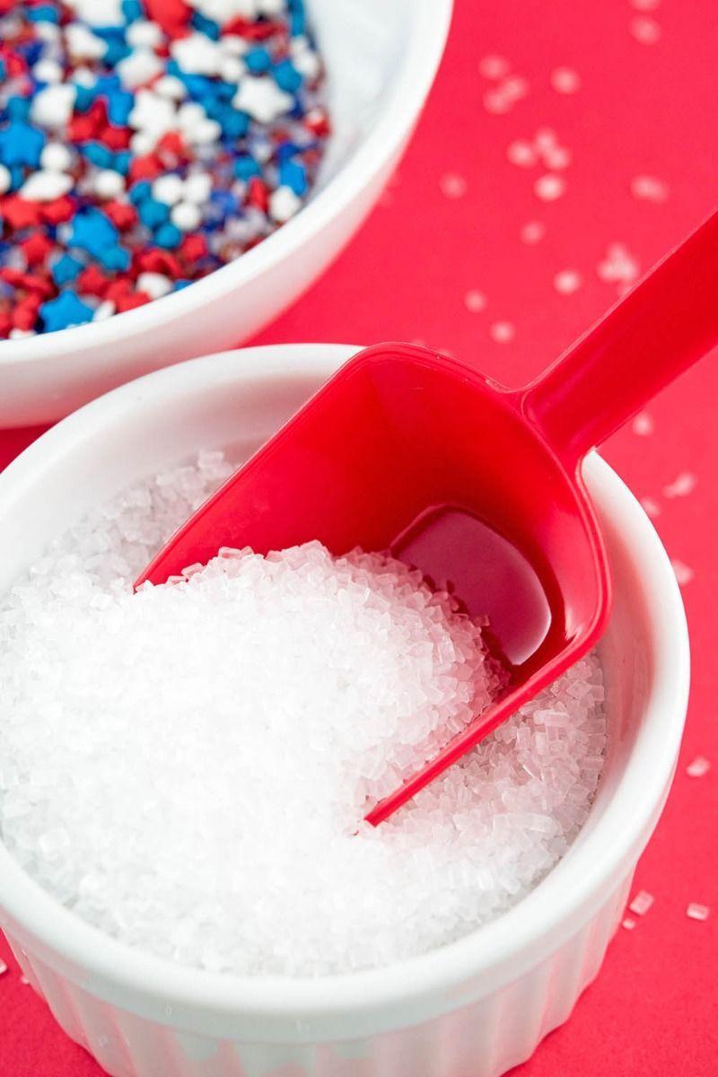 White Sugar Crystals - White Sugar Sprinkles - White Sparkling Sugar