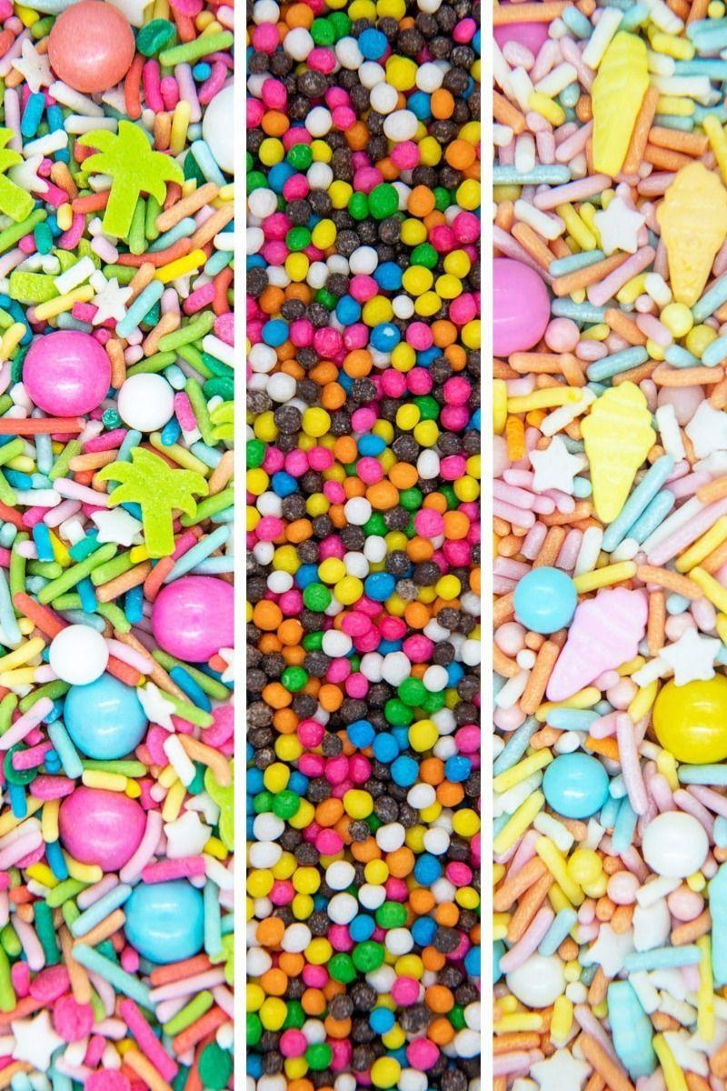 Summer Sprinkles Set | Bright Summer Sprinkle Medley Set, Edible Blend