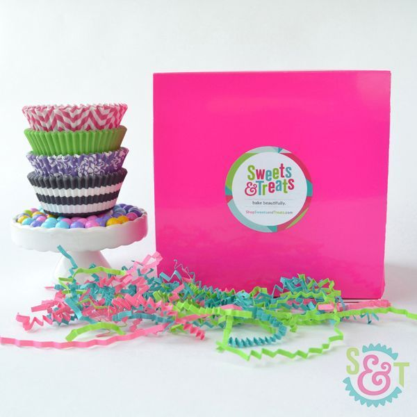 Assorted Cupcake Liner Gift Box - Greaseproof Cupcake Liner Gift Box - Gifts For Bakers