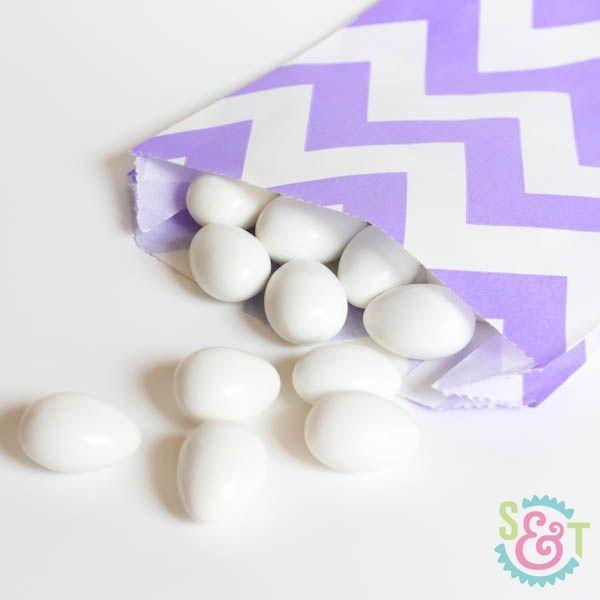 Light Purple Chevron Goodie Bags - Light Purple Goody Bags - Party Favor Bags