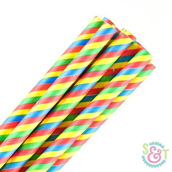 Primary Striped Paper Straws - Primary Paper Straws