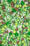 Football Sprinkles Mix | 50 Yard Line Sports Sprinkle Medley, Edible Blend