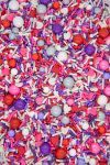 Pink & Purple Valentine Sprinkles Mix   End Game Sprinkle Medley, Edible Blend