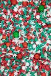 Traditional Christmas Sprinkles Mix   Sleigh Ride Red and Green Sprinkle Medley, Edible Blend