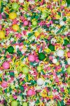 Fruit Summer Sprinkles Mix | Spring Sorbet Sprinkle Medley, Pink, Green, Yellow Edible Blend for Cakes and Cupcakes