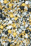 New Year's Sprinkles Mix | Black, Gold, Silver Wild Things Sprinkle Medley, Edible Blend
